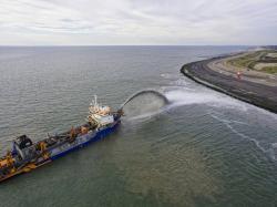 Groot onderhoud voor de kust van Schouwen Duiveland