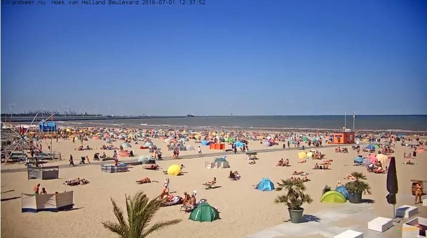 Het strandweer voor woensdag 4 juli