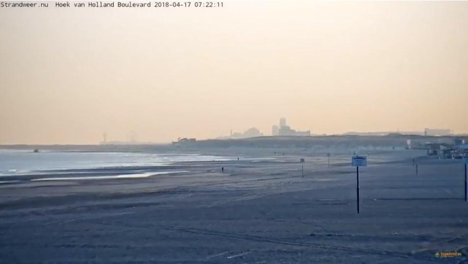 Zonnig strandweer voor dinsdag 17 april