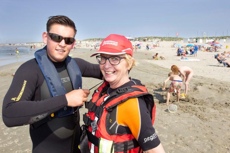 Burgemeester lifeguard voor een dag
