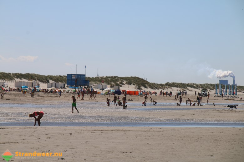 Het strandweer voor maandag 27 augustus