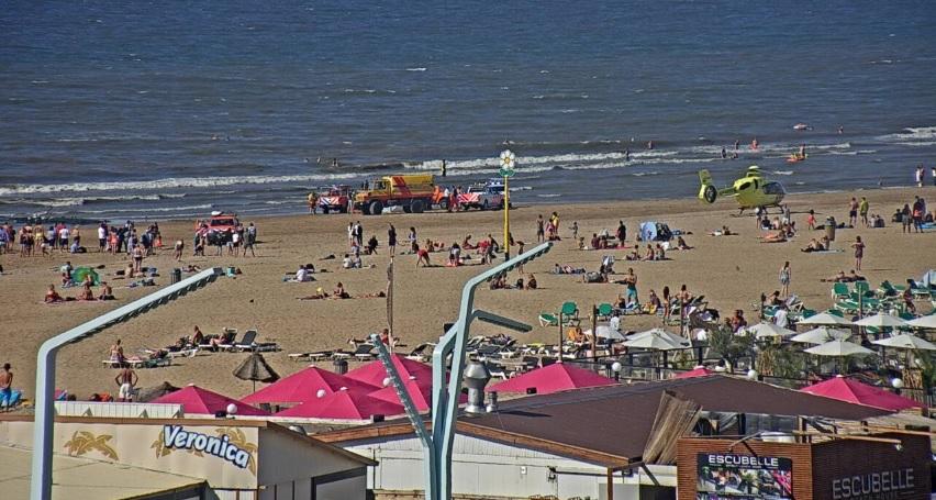 Traumahelikopters zondag vier keer naar het strand