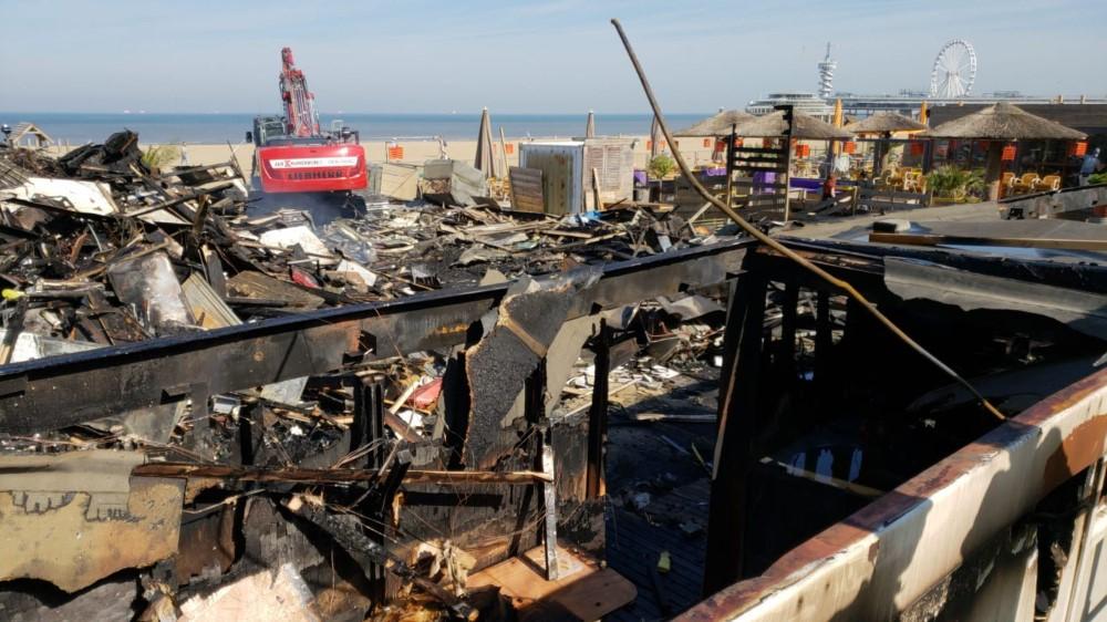 Terugblik op grote brand strandpaviljoen Blue Lagoon