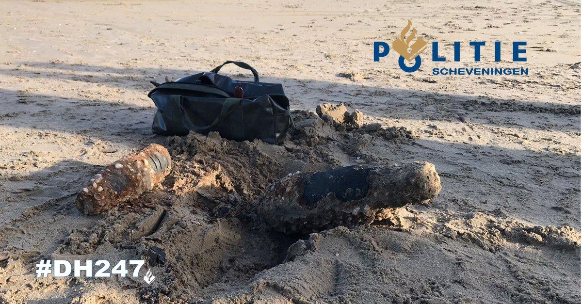 Granaten gevonden op het strand