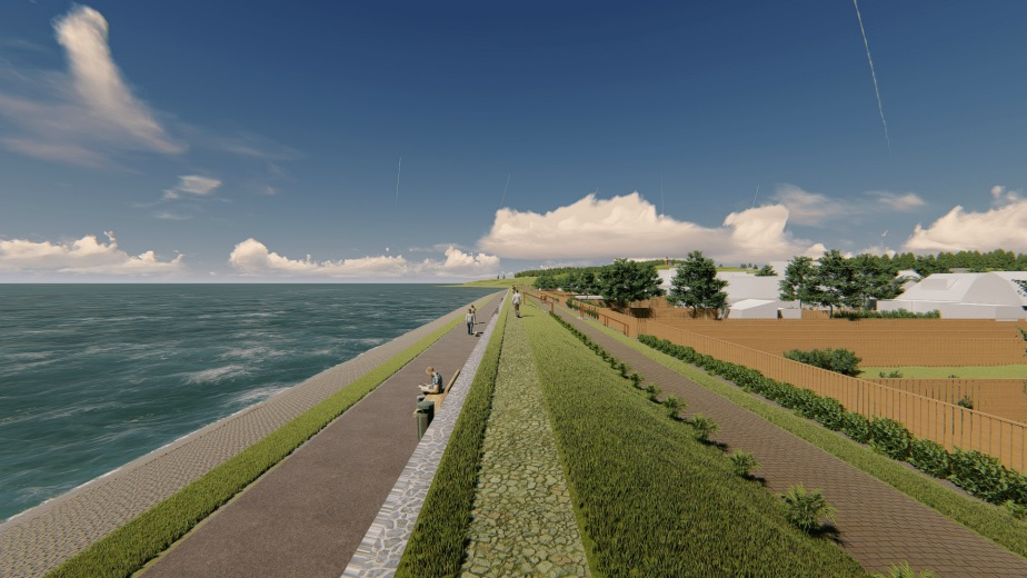 Drie nieuwe alternatieven voor dijk Vlieland