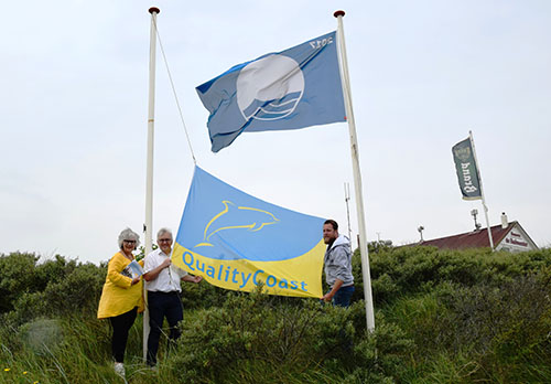 Quality Coast vlag voor aantrekkelijke Wassenaarse kust