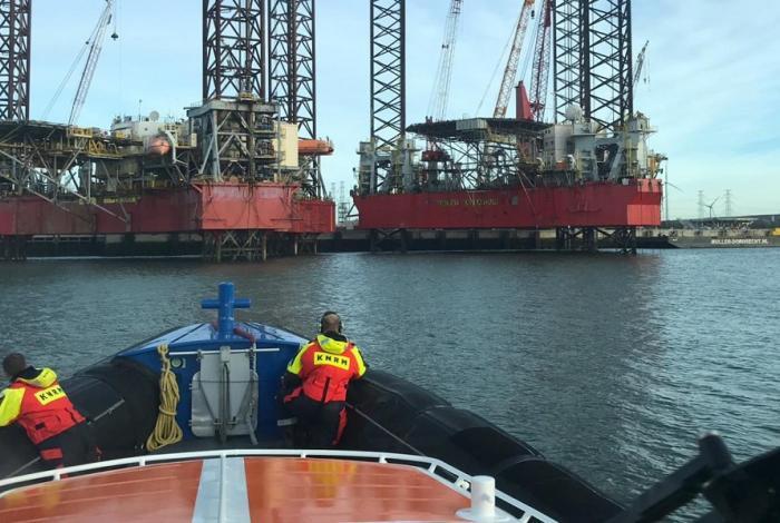 Werknemer werkeiland verdronken in Scaldiahaven
