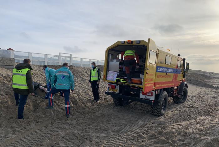 Twee gewonden bij strand Noordwijk
