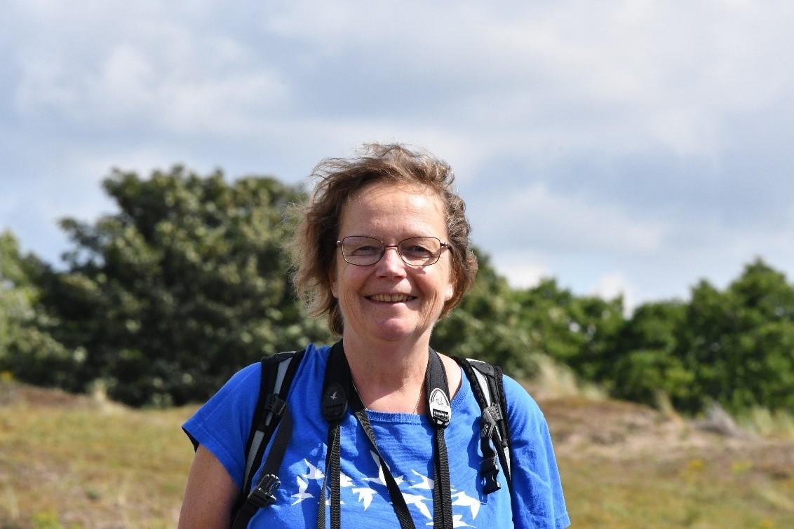 Marion Bilius consulent Noordwijkse duinen.
