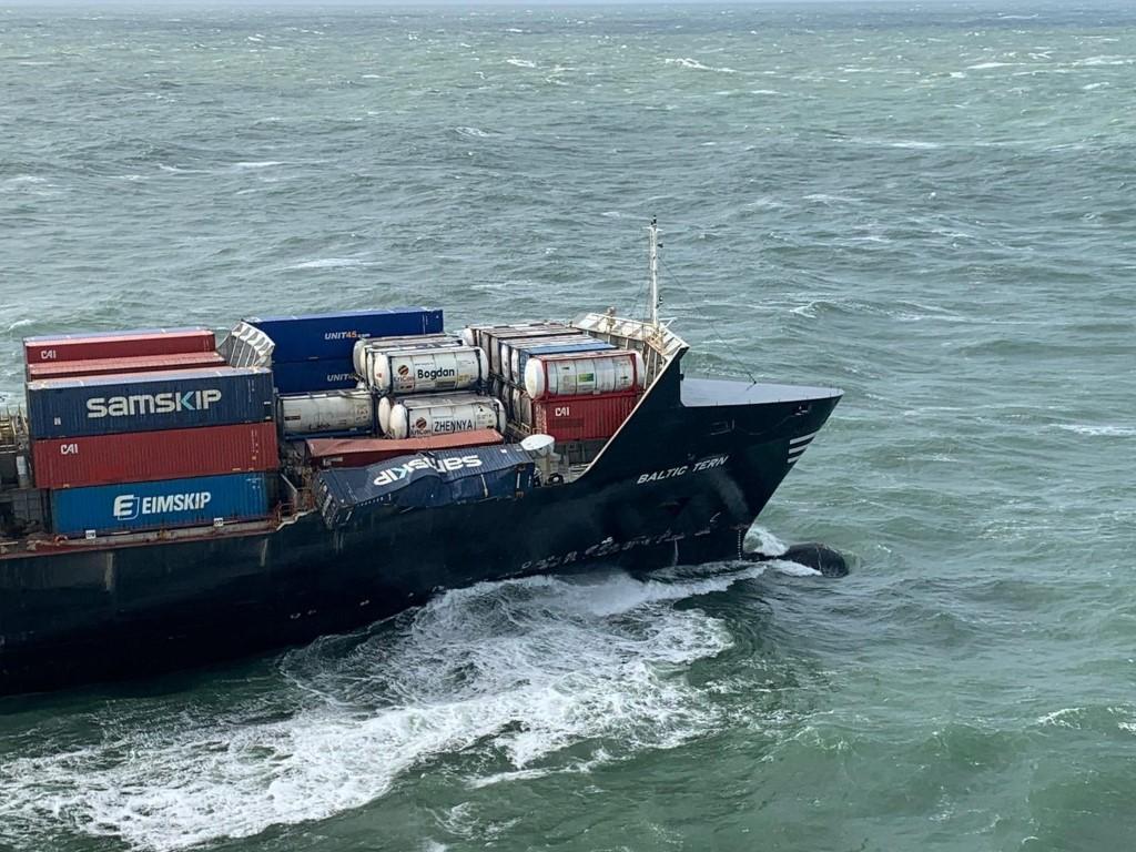 Deel verloren containers Baltic Tern opgespoord