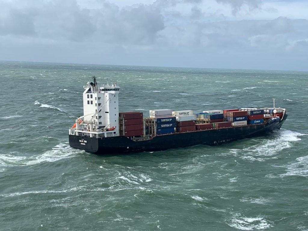 Schepen in problemen op de Noordzee