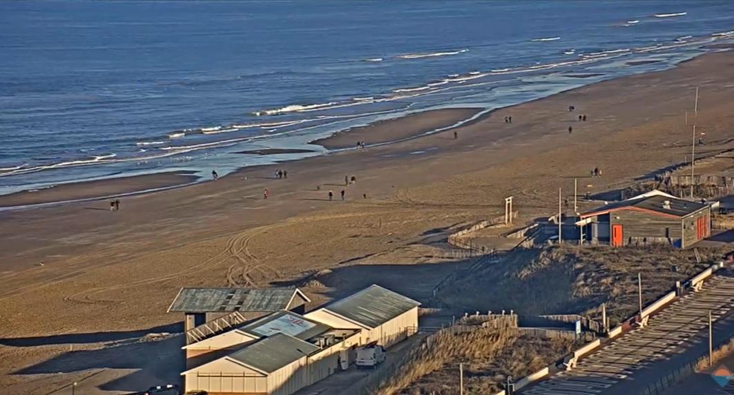 Een koude stranddag voor zondag 31 januari