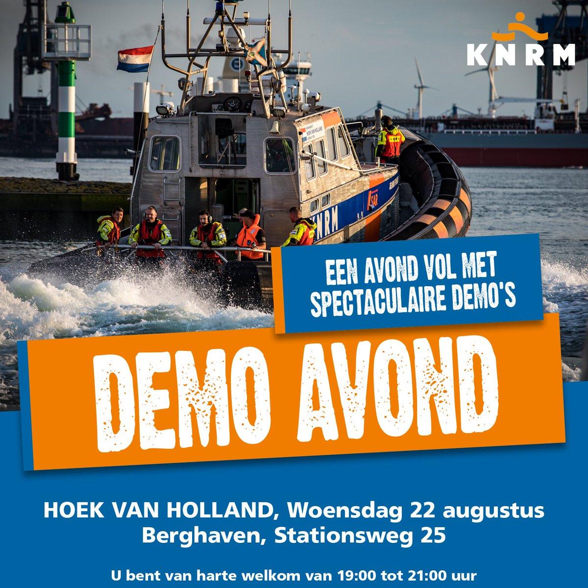Demo-avond KNRM en reddingsbrigade in Hoek van Holland