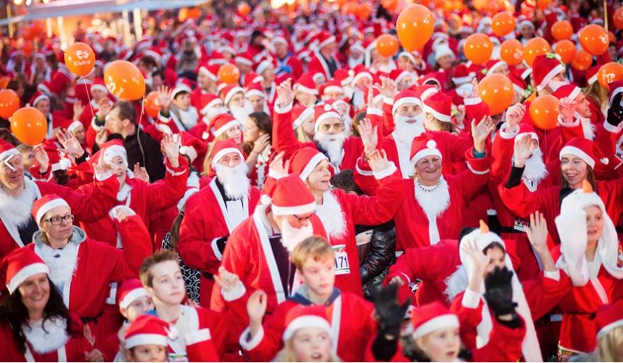 Santarun Scheveningen op 15 december