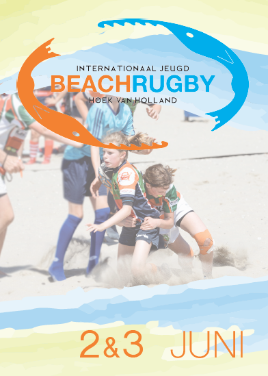 Jeugd beachrugby op 2 en 3 juni