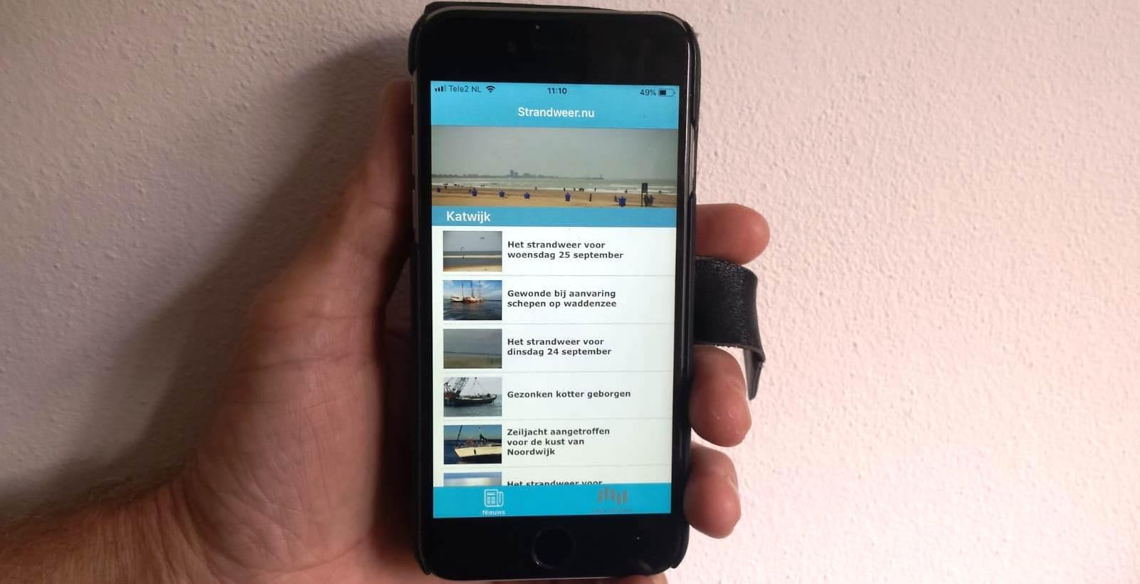 Binnenkort iOS app Strandweer.nu verkrijgbaar