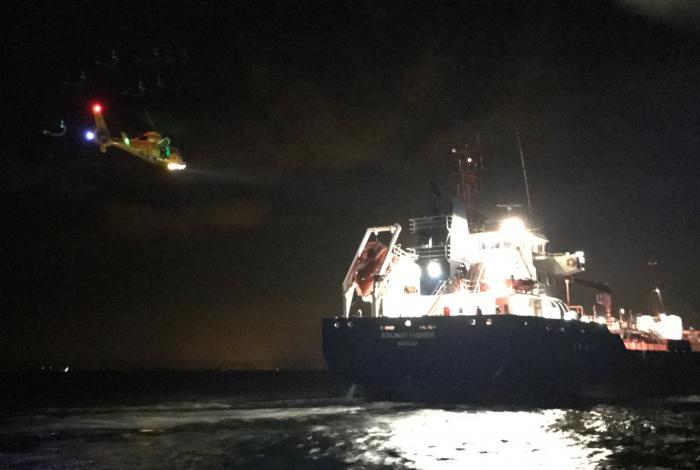 Medische evacuatie van tanker