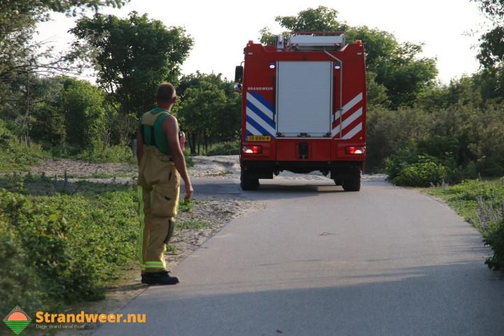 Kampvuur zorgt voor duinbrand bij Noordwijk