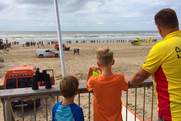 Zoektocht naar kinderen bij Egmond aan Zee