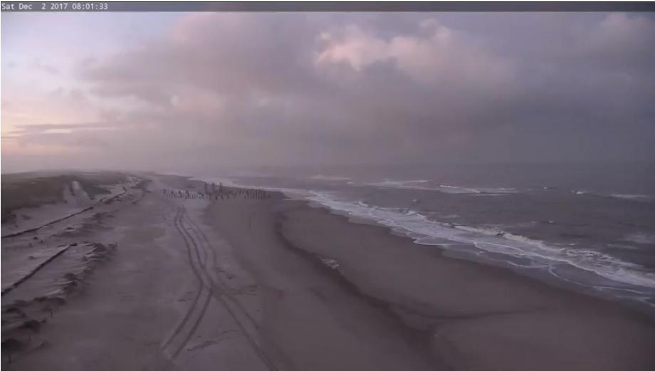 Bewolkt strandweer voor zaterdag 2 december