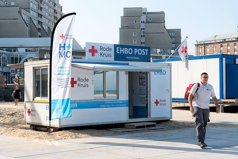 Ook EHBO-post Rode Kruis in Scheveningen