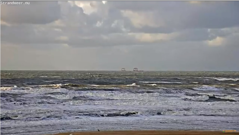 Guur strandweer voor zaterdag 9 december