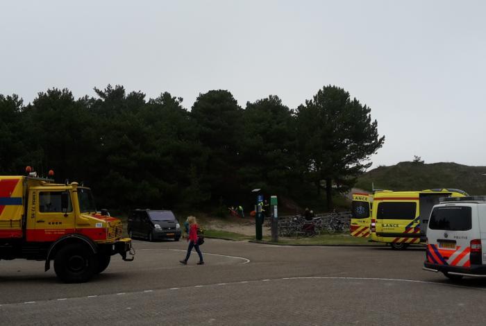 Snelle ambulance assistentie voor val van duin