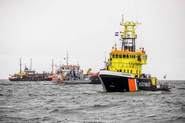 Improviseren op zee tijdens Olie Alert Waddenzee