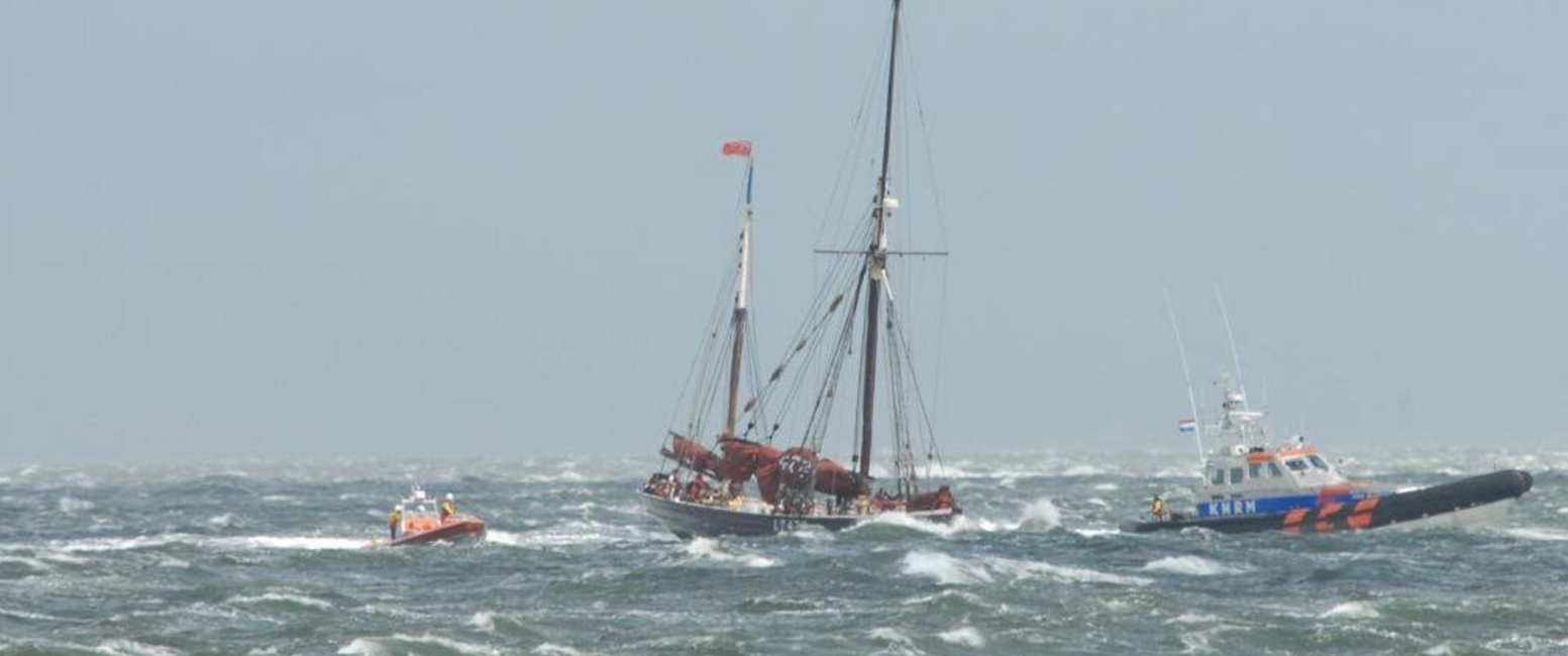 Stormachtige actie voor reddingboot Oudeschild-Texel