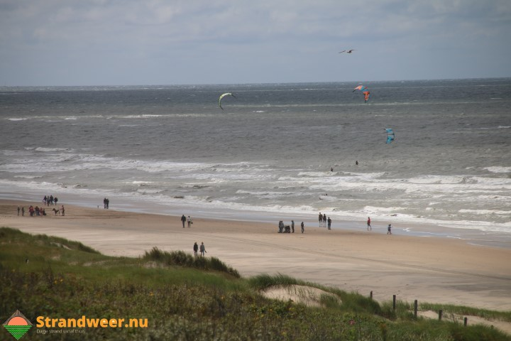 Strandweer woensdag 2 augustus met veel bewolking