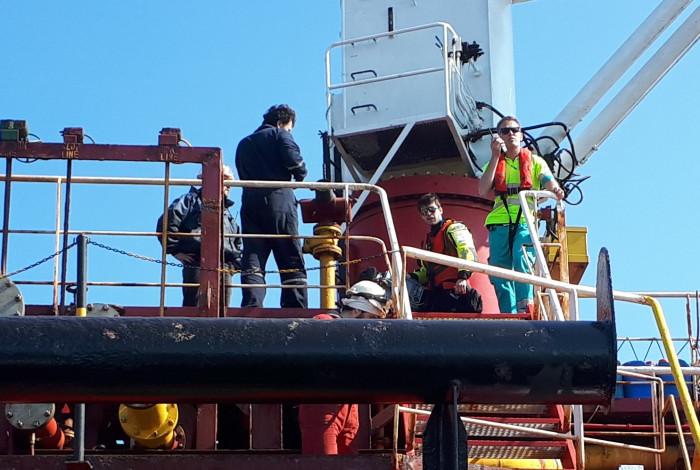 Medische evacuatie zeeman uit ankergebied