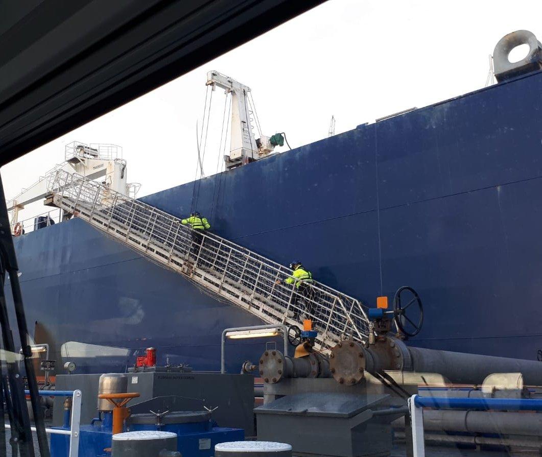 Boete voor tanker op zee