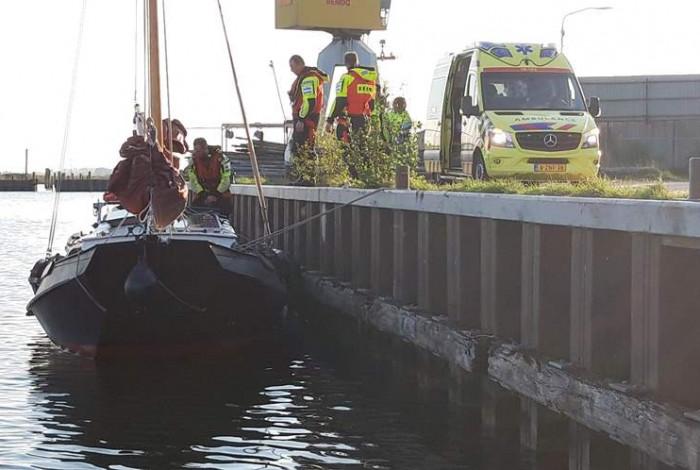 Brandwonden door hard langsvarende speedboot