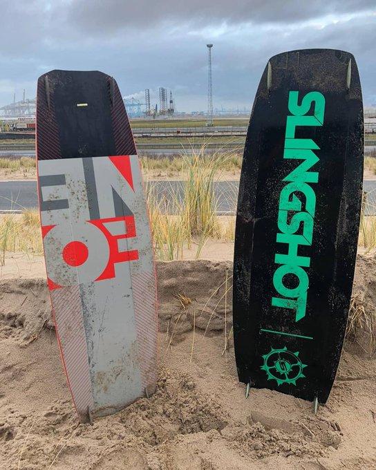 Onbeheerde kiteboards gevonden bij Maasvlakte
