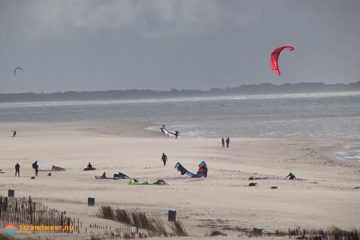 Het strandweer voor het eerste weekend van december
