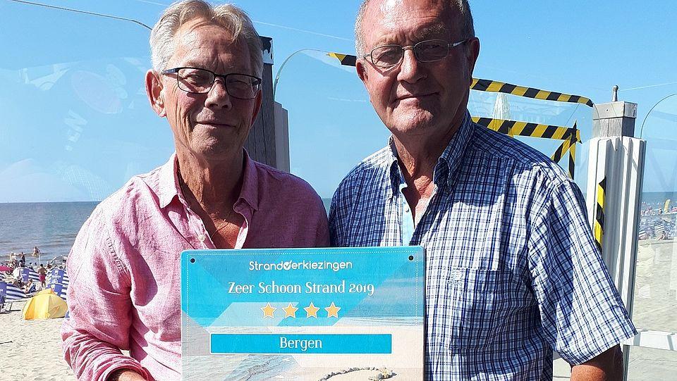 Vier sterren voor strand gemeente Bergen