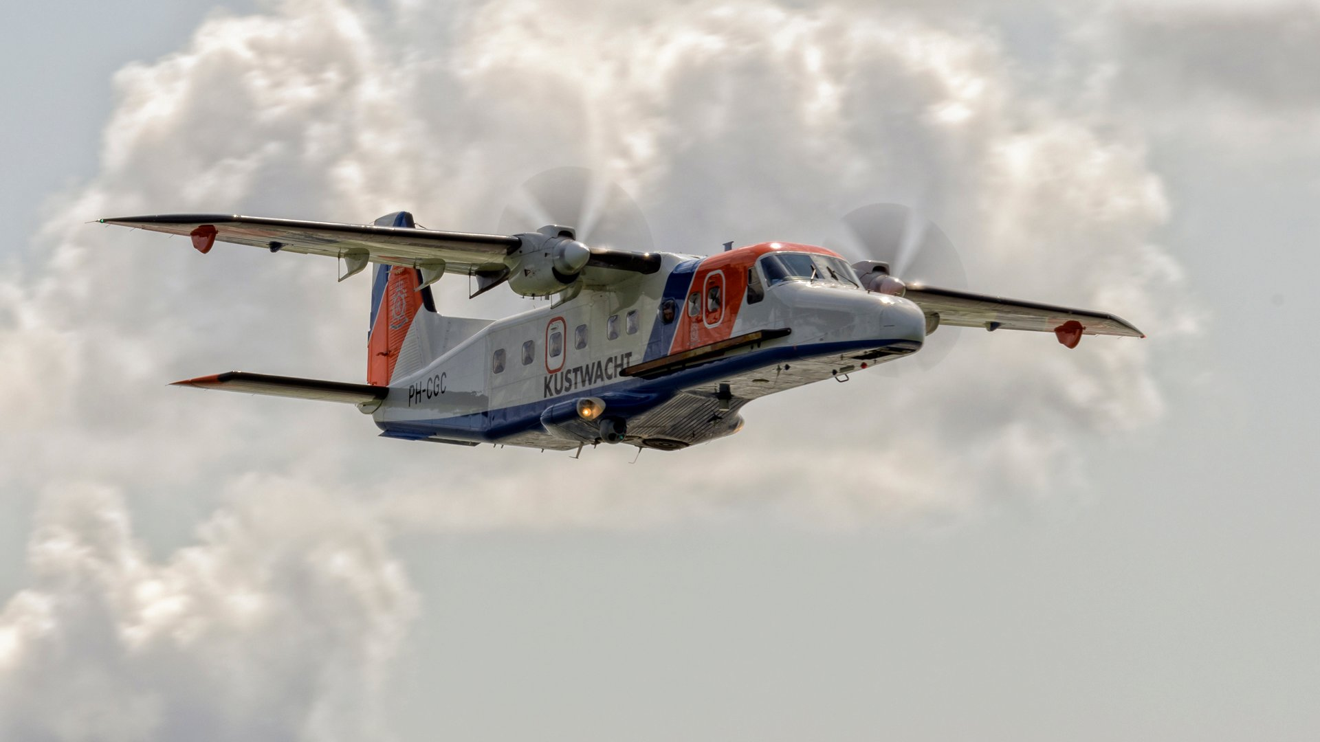 Drie dagen lang inspectievluchten boven Noordzee
