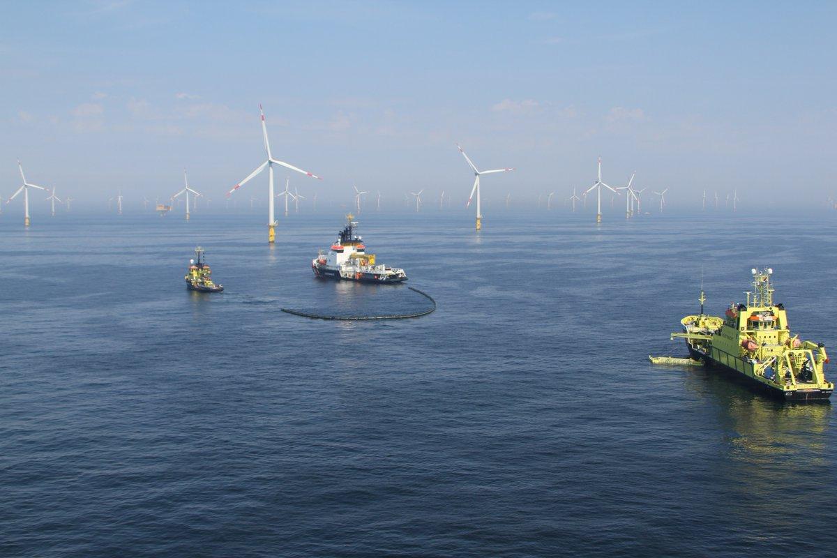 Olie opruimen in een windmolenpark