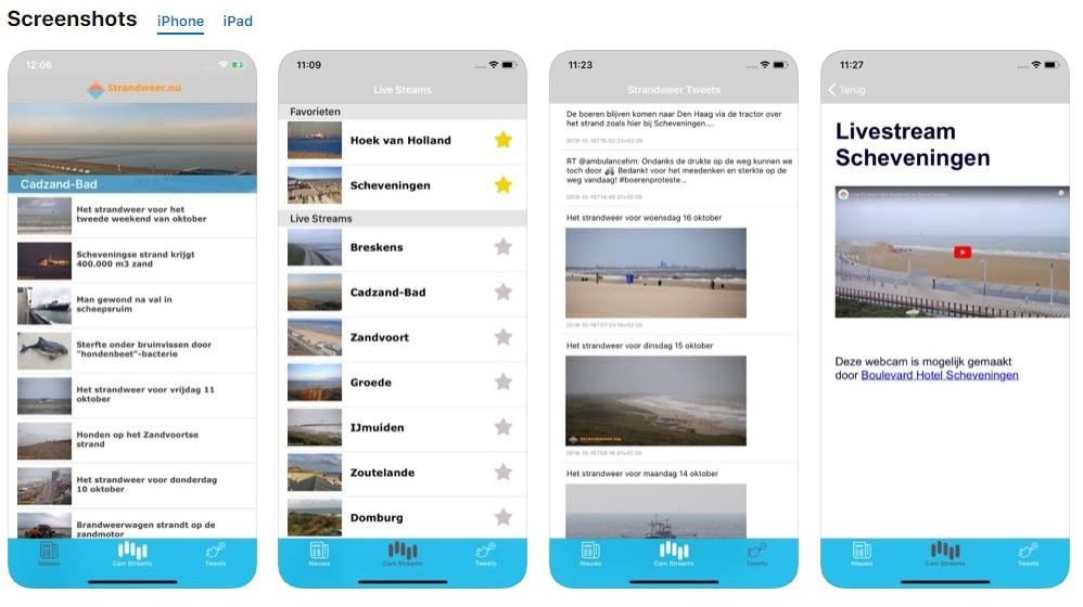 Strandweer.nu app voor iPhone en iPad klaar