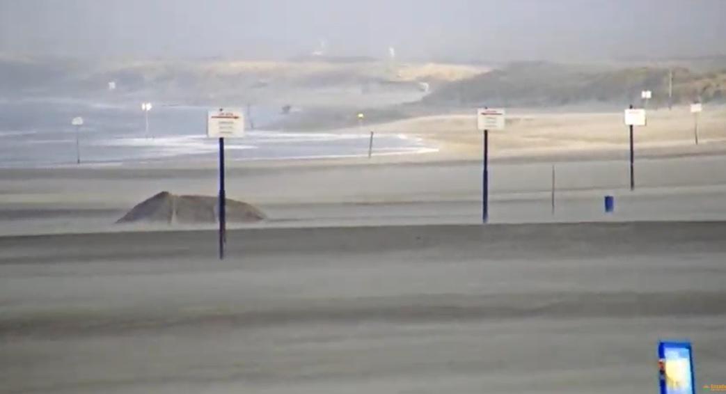 Winterstorm Ciara goed voor bezoek strandcams