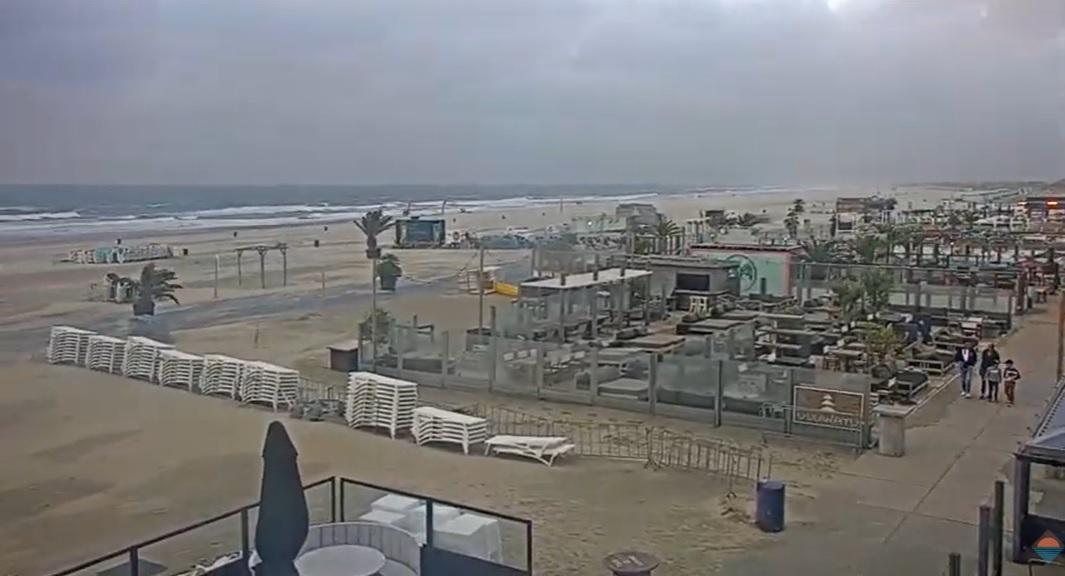 Stormachtige stranddag voor de woensdag