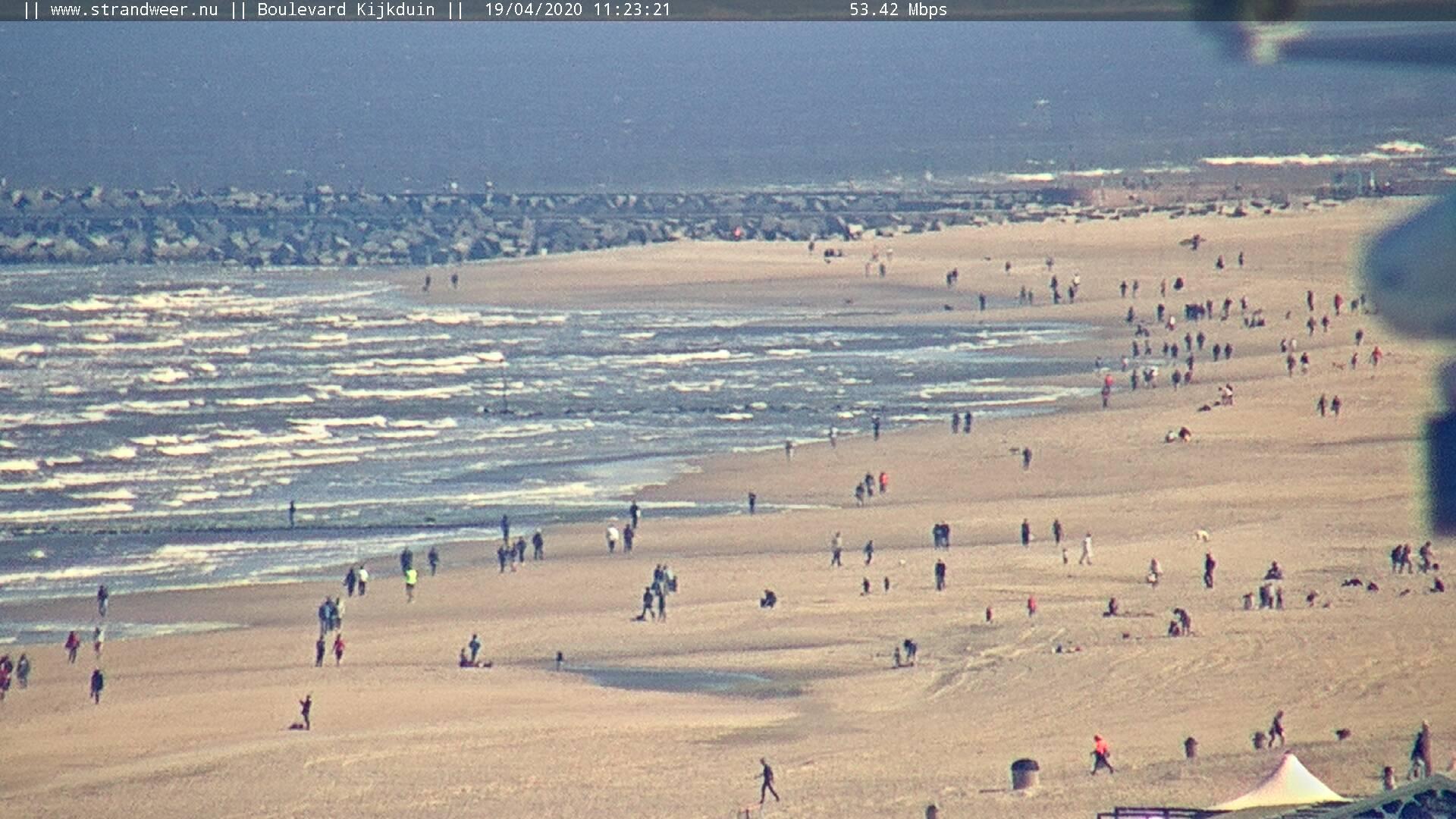 Het strandweer voor maandag 20 april