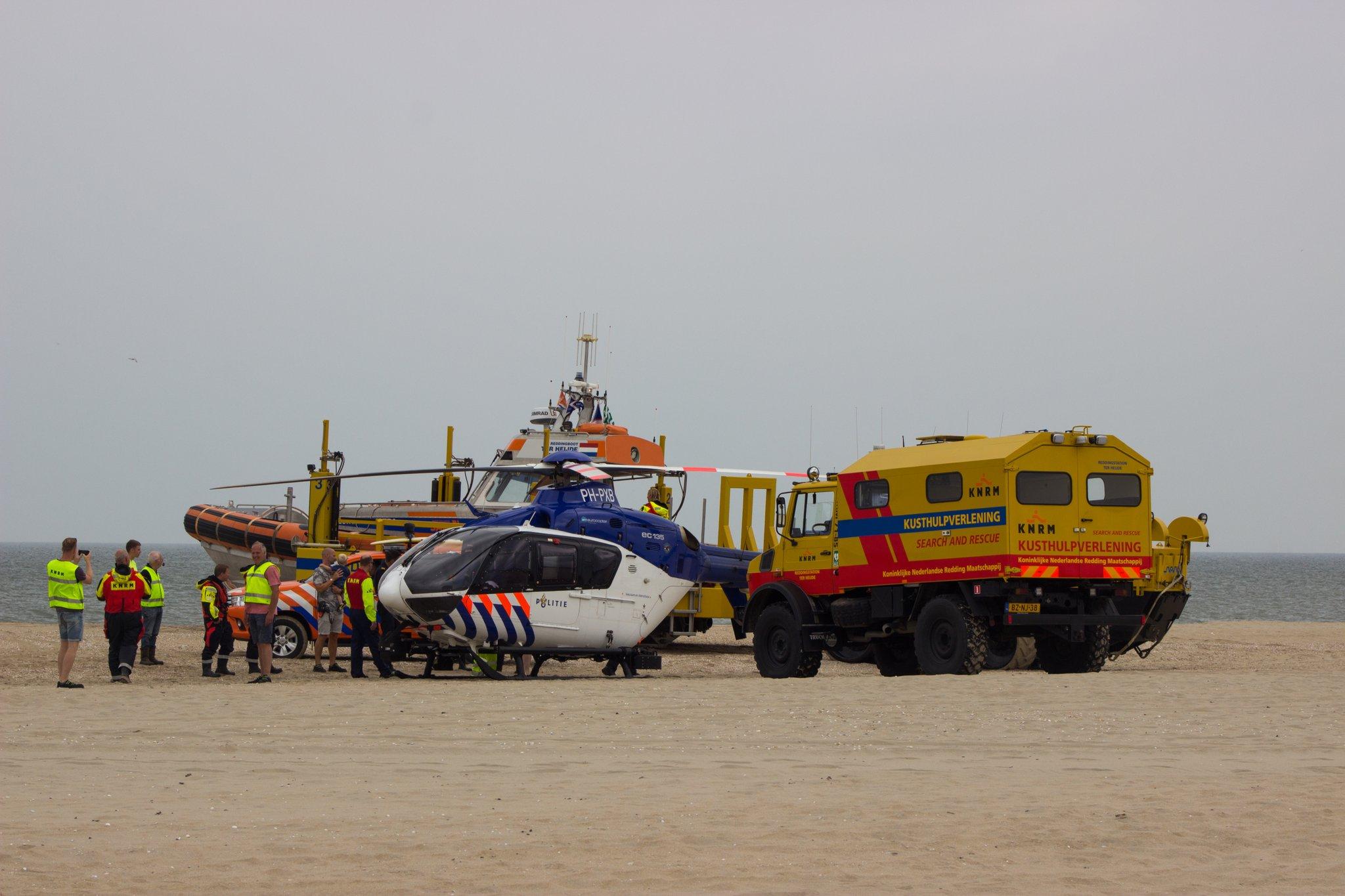 Politiehelikopter en KNRM oefenen voor vermiste personen