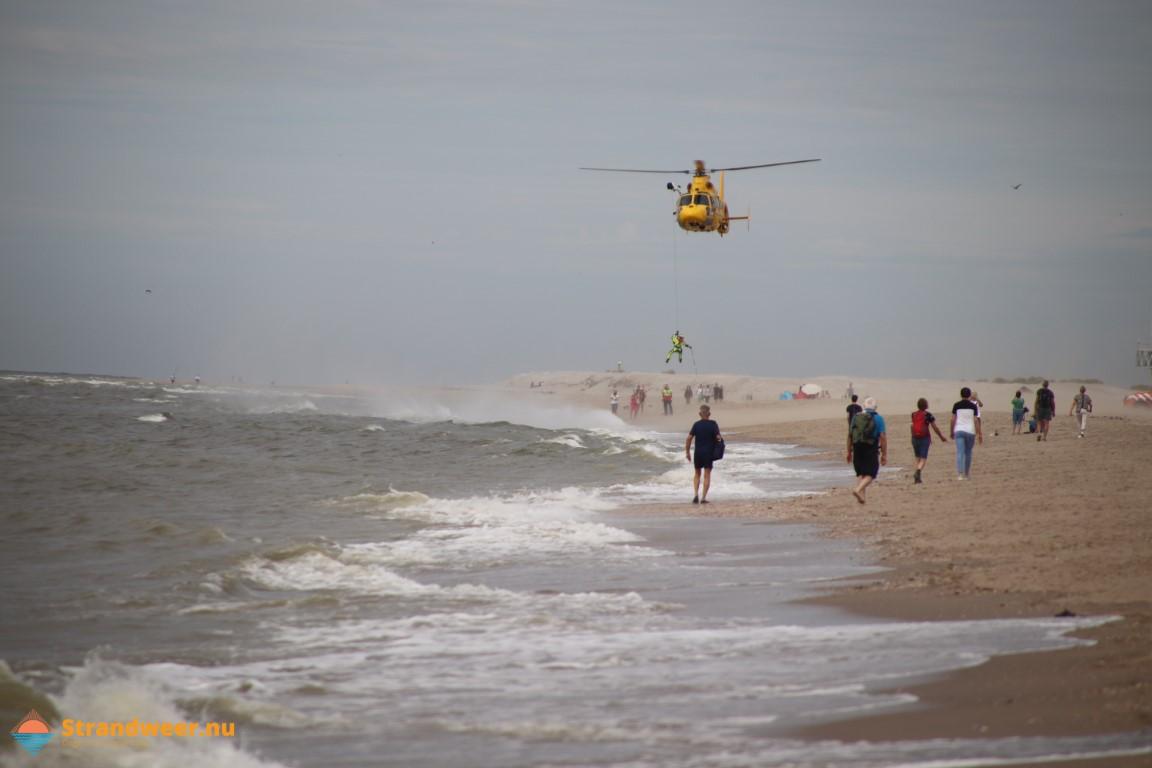 SAR oefening op het Heijdse strand