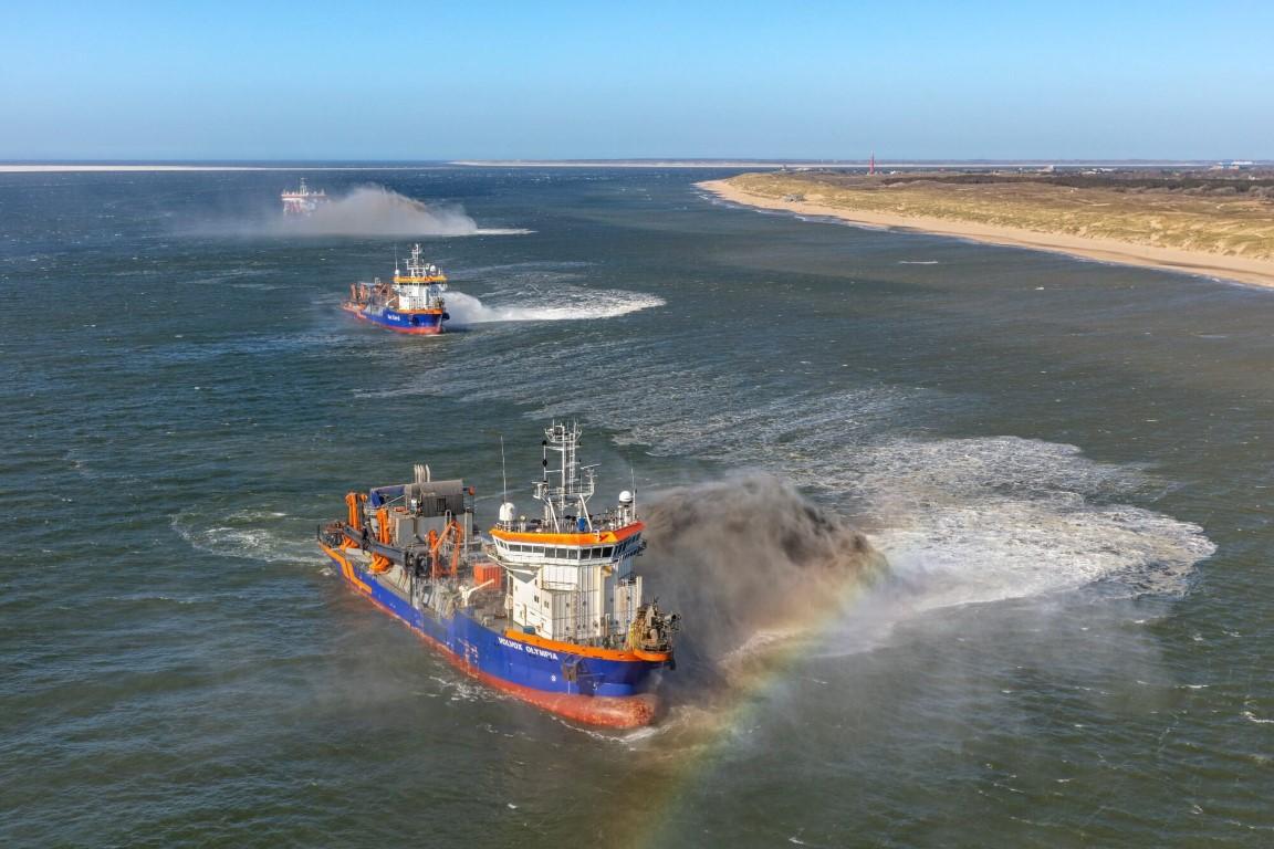 Zandsuppletie bij Julianadorp en Den Helder afgerond