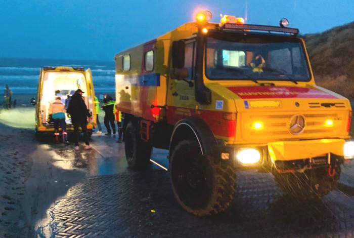 KNRM Noordwijk in actie tijdens storm Dennis