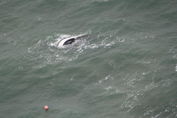 Sportvisboot omgeslagen in de Noordzee