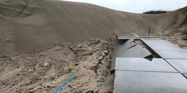 Veel zandafslag door storm bij Schouwen Duiveland